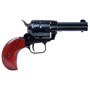 """Heritage Rough Rider, Single Action Army Revolver, 22LR/22WMR, 3.5"""" Barrel, Alloy Frame, Blue Finish, Wood Grips, Fixed Sights, 6Rd, Bird's Head, Right Hand 22MB3BH, UPC :727962500118"""