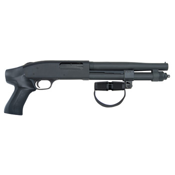 Mossberg 590A1 Compact Cruiser AOW, Pump Action, 12 Gauge, 10in Barrel, Black, Pistol Grip, 3 Round, Cylinder 51664, UPC : 015813516648