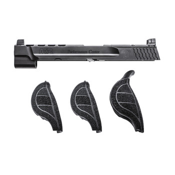 "Smith  Wesson MP Performance Center Slide Kit, Black Finish, 9mm, 5"" Ported Barrel, For MP pistols with Magazine Safety 11550, UPC : 022188869088"