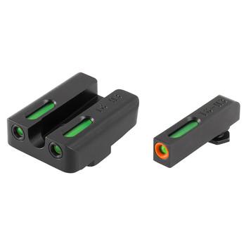Truglo Brite-Site, TFX Pro, Sight, Fits Glock 20,21,29,30,31,32, Tritium/Fiber-Optic, Day/Night Sight, 24/7 Brightness, Orange Ring on Front Sight TG13GL2PC, UPC :788130022528