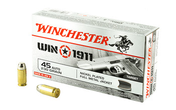 Winchester Ammunition Win1911, 45ACP, 230 Grain, Full Metal Jacket, 50 Round Box X45T, UPC : 020892220218