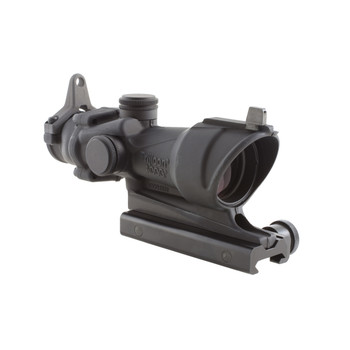 Trijicon ACOG Rifle Scope, 4X32, Amber Center Illumination for M4A1, Flat Top Adapter, Backup Iron Sights and Dust Cover TA01NSN, UPC :719307300538