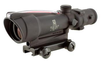 Trijicon ACOG Rifle Scope, 3.5X35, Red Chevron Reticle .308, Includes Flattop Mount, Matte Finish TA11E, UPC :719307300088