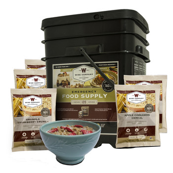 Wise Company 25 Year Shelf Life, 120 Serving, Bucket, Grab  Go, BREAKFAST ONLY, Long Term Food 01-121, UPC : 094922068538