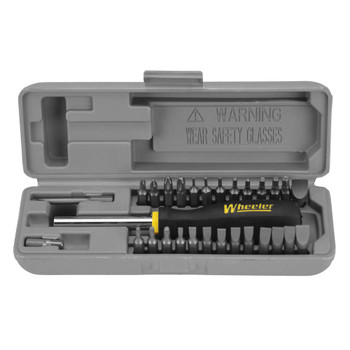 Wheeler Space Saver Gunsmith Screwdriver Set, Tool, With 26 Bits 664-507, UPC :661120645078