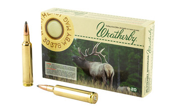 Weatherby Select Plus Ammunition, 30-378 Weatherby, 200 Grain, Nosler Partition, 20 Round Box N303200PT, UPC :747115020768