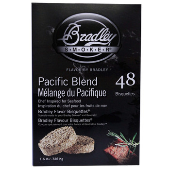 Bradley Pacific Blend Bisquettes 48 Pack, UPC :689796220108