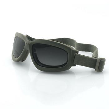 Bobster Bravo 2 Ballistic Goggle-Grn Frame-3 Anti-fog Lenses, UPC :642608047508