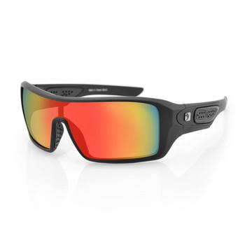 Bobster Paragon Sunglasses-Matte Black/Red Mirror Lenses, UPC :642608045238
