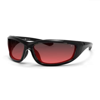 Bobster Charger ANSI Z87 Sunglass-Black Frame/Rose Lenses, UPC :642608047218