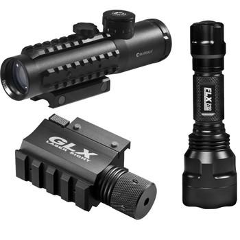 Barks 4x30 IR Electro Sight-Grn Laser/210 Lum LED Flashlight, UPC :790272982738