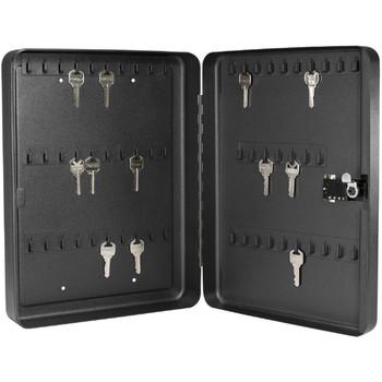 Barska 60 Keys Lock Box With Combination Lock Black, UPC :790272983568