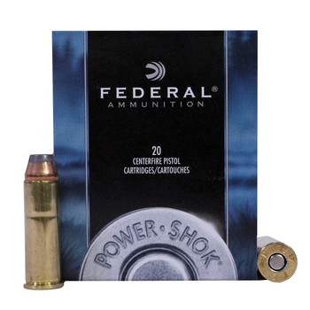 Federal Power-Shok Ammunition 41 Remington Magnum 210 Grain Jacketed Hollow Point Box of 20, UPC : 029465093068