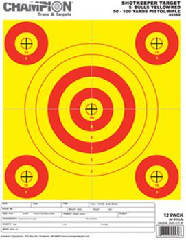 SHOTKEEPER 5 BULLS BRT YELL/RED SM 12 PK UPC: 076683455628