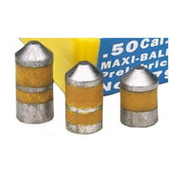 Thompson Center Maxi-Hunter Bullets 50 Caliber 350 Grain Lead Hollow Point Lubricated Box of 20, UPC : 090161003408