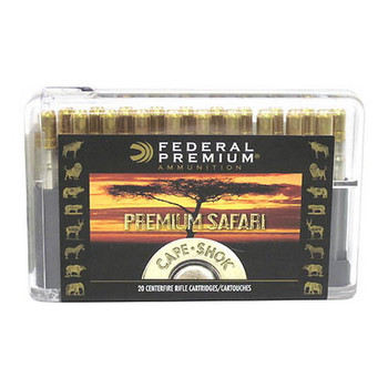 Federal Premium Cape-Shok Ammunition 375 H&H Magnum 300 Grain Trophy Bonded Sledgehammer Box of 20, UPC : 029465091248