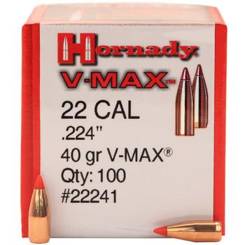 BULLET 22 CAL 224 40 GR V-MAX 100/BX, UPC : 090255222418