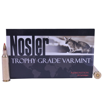 Nosler Trophy Grade Ammunition 22-250 Remington 40 Grain Ballistic Tip Varmint Lead-Free Box of 20, UPC : 054041600088