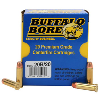 Buffalo Bore Ammunition 38 Special +P 125 Grain Jacketed Hollow Point Box of 20, UPC :651815020228