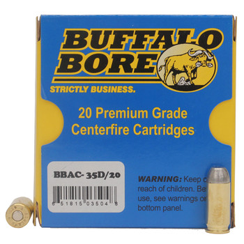 Buffalo Bore Ammunition 460 Rowland 255 Grain Hard Cast Lead Flat Nose Box of 20, UPC :651815035048