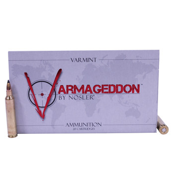 Nosler Varmageddon Ammunition 204 Ruger 32 Grain Tipped Flat Base Box of 20, UPC : 054041651158