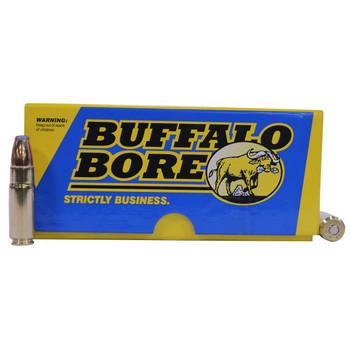 Buffalo Bore Ammunition 458 SOCOM 350 Grain Jacketed Flat Nose Box of 20, UPC :651815458038