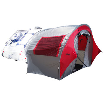 TAB Trailer Side Tent - silver/red trim, UPC :721209075018