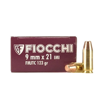 Fiocchi Shooting Dynamics Ammunition 9x21mm 123 Grain Full Metal Jacket Truncated Cone Box of 50, UPC :762344001708