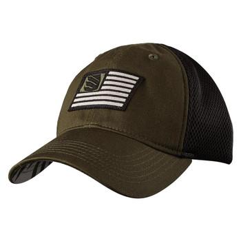 FOAM MESH BACK FITTED CAP JNG/BLK MED/L, UPC :648018737138