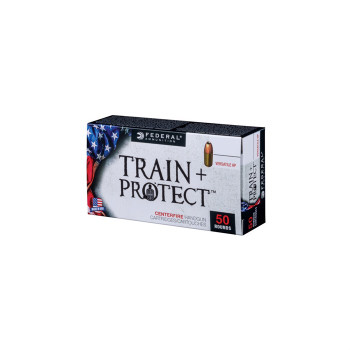 Federal Train + Protect Ammunition 9mm Luger 115 Grain Versatile Hollow Point Box of 100, UPC :604544627398