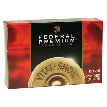 "Federal Premium Vital-Shok Ammunition 20 Gauge 3"" Buffered #2 Copper Plated Buckshot 18 Pellets Box of 5, UPC : 029465017958"