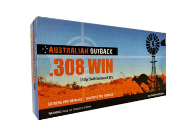 CASE LOT - Buy Two Get One Free! Case of Australian Outback .308 WIN – 150gr Swift Scirocco II BTS