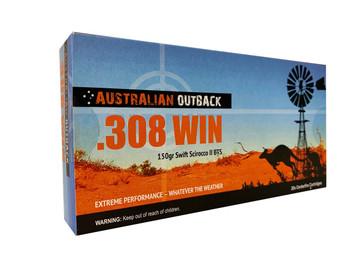 CASE LOT - Buy Two Get One Free! Case of Australian Outback .308 WIN – 150gr Swift Scirocco II BTS