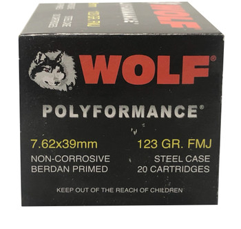 WOLF POLYFORMANCE 7.62X39MM 123 GRAIN FMJ