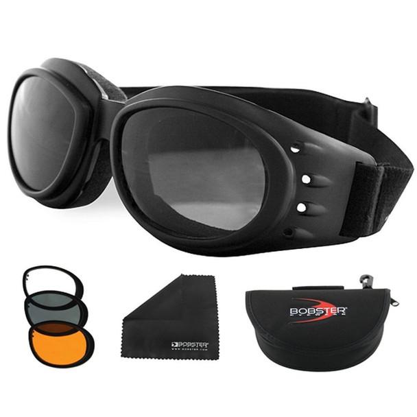 Bobster Cruiser 2 Interchange Goggle Black Frame 3 Lenses UPC: 642608012001