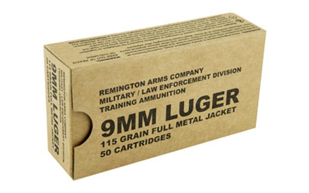 Remington Pistol, 9MM, 115 Grain, Full Metal Jacket, 50 Round Box B9MM3, UPC : 047700479200