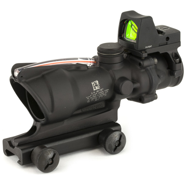 Trijicon ACOG Scope, Dual Illuminated Red Chevron .223 Reticle, With Colt Knob Thumbscrew Mount, LED 3.25 MOA Red Dot RMR Type 2 TA31-D-100549, UPC :719307311770