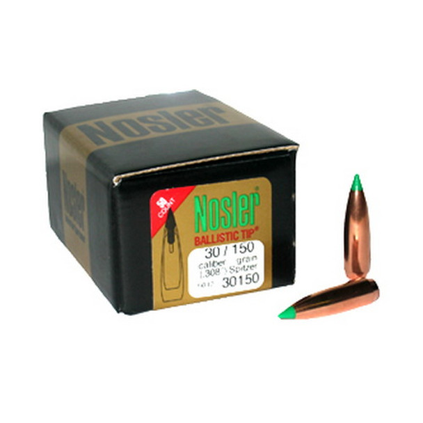 Nosler Ballistic Tip Hunting Bullets 30 Caliber (308 Diameter) 150 Grain  Spitzer Box of 50, UPC : 054041301503