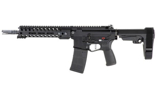 "Patriot Ordnance Factory Renegade Plus, Semi-automatic Pistol, 223 Rem/556NATO, 10.5"" Puritan Barrel, 1:8 Twist, Black Finish, SB Tactical SBA3 Brace, 30Rd, 1 Magazine, MLOK Renegade Rail, Triple Port Muzzle Brake, POF-USA 3.5lb Drop-in FLAT Trigger,"