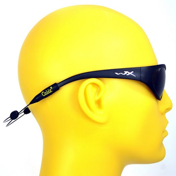 Cablz Zipz XL Adjustable Sunglasses Holder Black 14in, UPC : 013964254457
