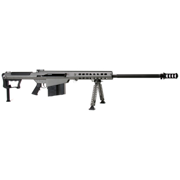 "Barrett M107A1, Semi-automatic, 50BMG, 29"" Barrel, Gray Finish, Synthetic Stock, 10Rd, 1 Magazine, Bipod, Monopod, & Hard Case 14553, UPC :816715013026"