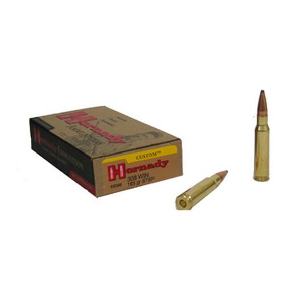 Hornady Custom Ammunition 308 Winchester 165 Grain InterLock Spire Point  Boat Tail Box of 20, UPC : 090255380989