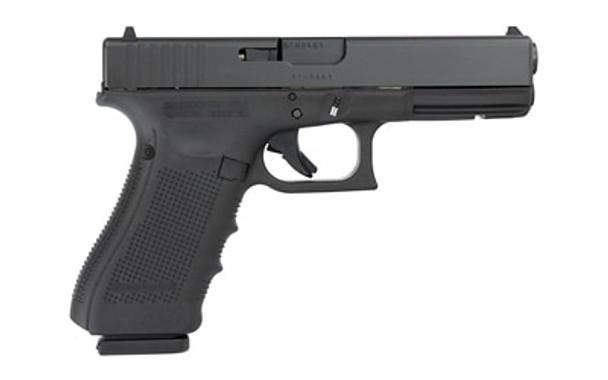 "Glock 17 Gen 4, Safe Action, Full Size Pistol, 9MM, 4.48"" Barrel, Polymer Frame, Matte Finish, Fixed Sights, 17Rd, 3 Magazines, Glock OEM Rail PG1750203, UPC :764503000881"