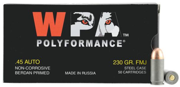 500 Case Wolf 230 GR. FMJ .45 Auto UPC: 645611451126