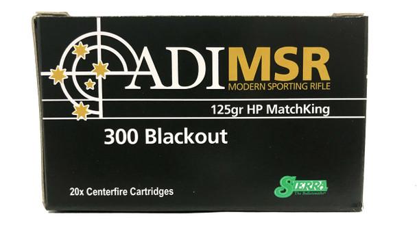 Australian Outback 20 rd Box 125 Grain Sierra Matchking .300 Blackout