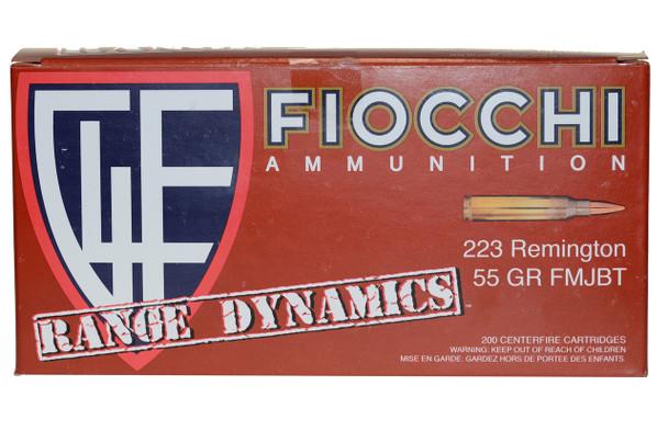 Fiocchi, 200 Rounds .223 Remington 55 GR. FMJ BT UPC: 762344711768