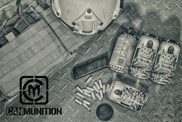 World's First - CanMunition™ 9mm 115 Grain in a 90round beverage can! UPC 850003223001