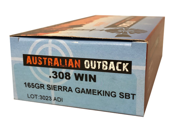 Case Lot Buy Two Get One Free! Case of Australian Outback .308 WIN – 165gr Sierra SBT Gameking