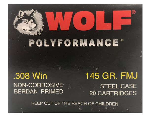 WOLF .308 WIN 145 GRAIN FMJ UPC: 645611308116