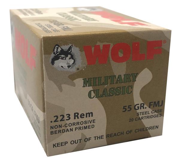 WOLF MILITARY CLASSIC .223 REMINGTON 55 GRAIN FMJ